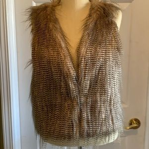 Maurices Large Feather Vest